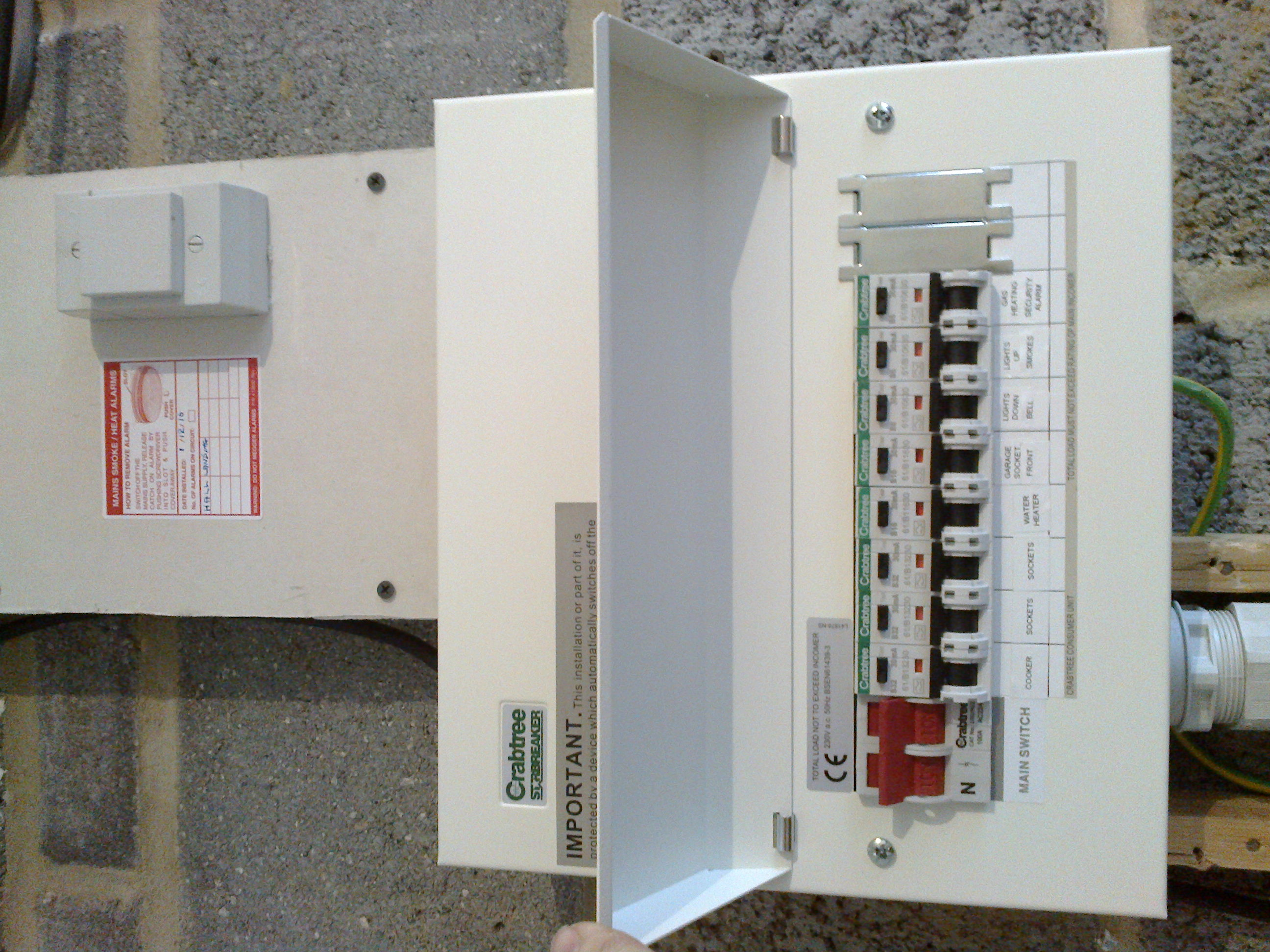 Gallery Nexelec Electrician Modern Fuse Box This Is An Example Above Of A Slightly More Compact Version Replacement Consumer Unit The Units Are Larger Than