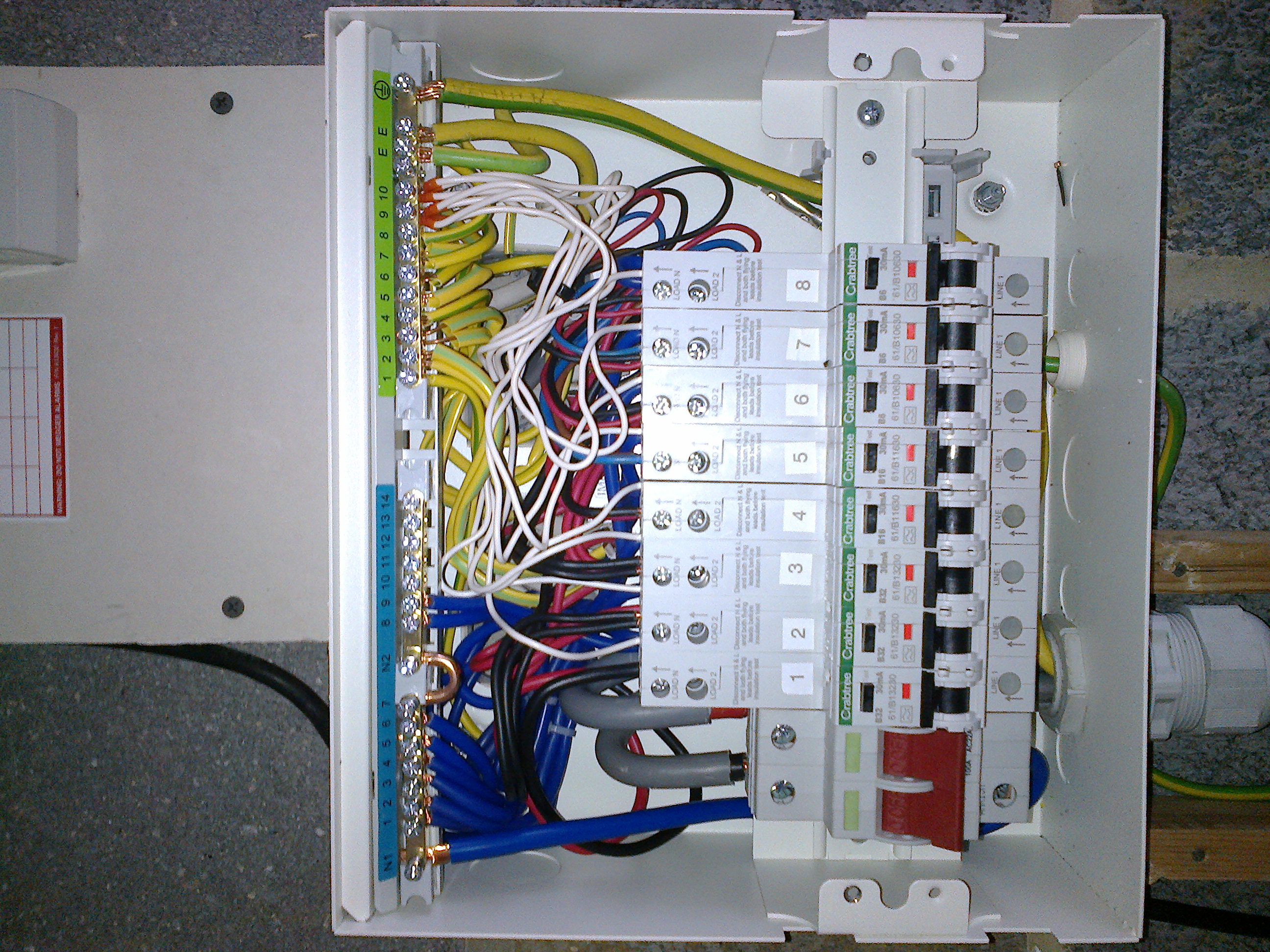 Gallery Nexelec Electrician Consumer Unit Fuse Box This Is An Example Above Of A Slightly More Compact Version Replacement The Modern Units Are Larger Than